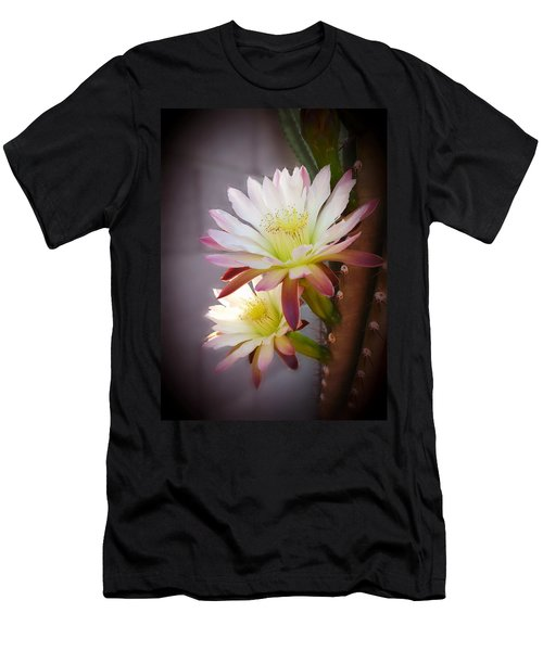 Men's T-Shirt (Slim Fit) featuring the photograph Night Blooming Cereus by Marilyn Smith
