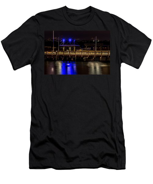 Night Falls On Old Town Pier Men's T-Shirt (Athletic Fit)