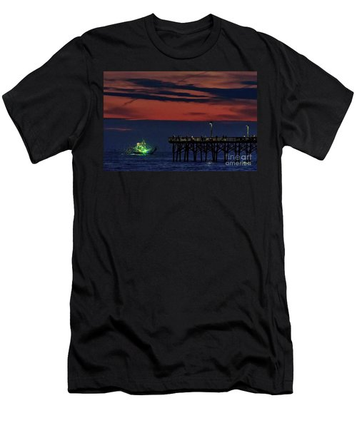 Night Fishing Men's T-Shirt (Athletic Fit)