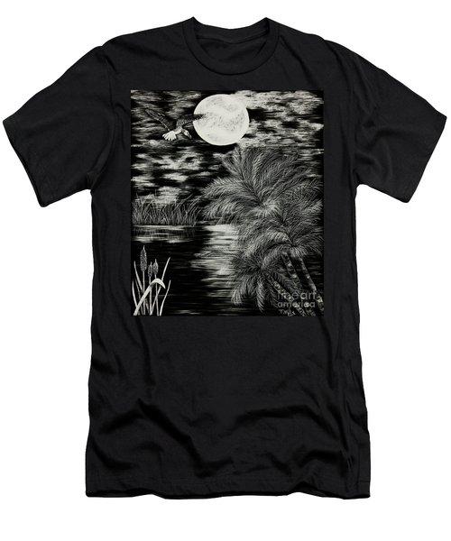 Night Flight Men's T-Shirt (Slim Fit) by Terri Mills