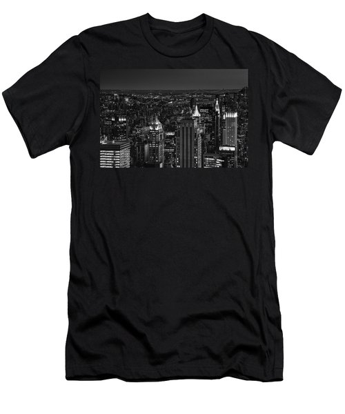 Night In Manhattan Men's T-Shirt (Athletic Fit)