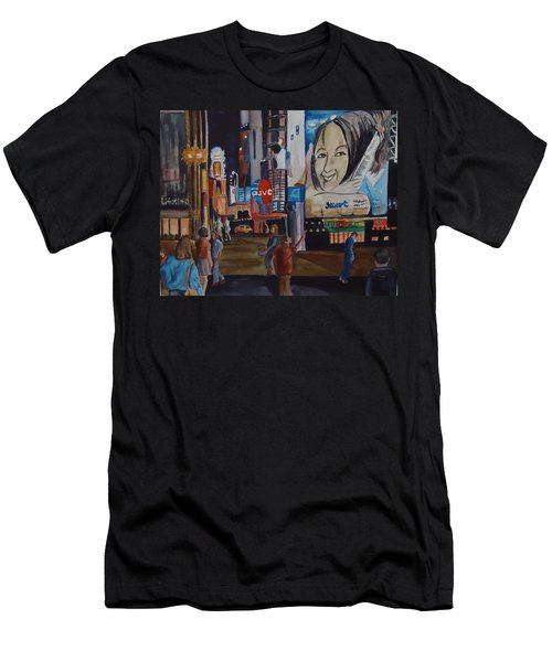 Night In Time Square Men's T-Shirt (Athletic Fit)