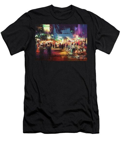 Night Market Men's T-Shirt (Athletic Fit)