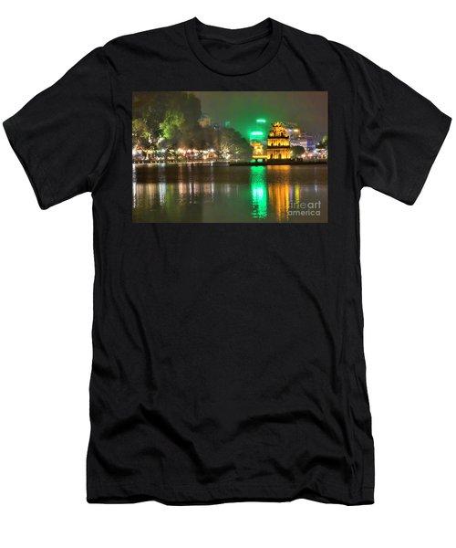 Night Moods Turtle Tower Hanoi Men's T-Shirt (Athletic Fit)