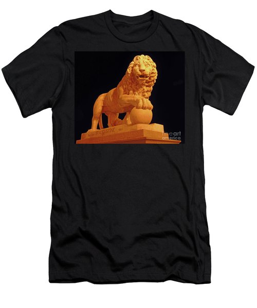 Night Of The Lion Men's T-Shirt (Athletic Fit)