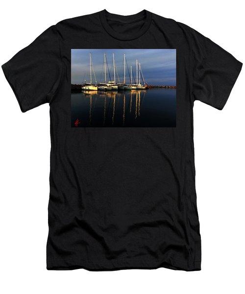Night On Paros Island Greece Men's T-Shirt (Athletic Fit)