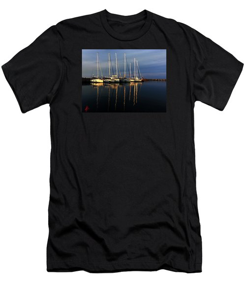 Night On Paros Island Greece Men's T-Shirt (Athletic Fit)