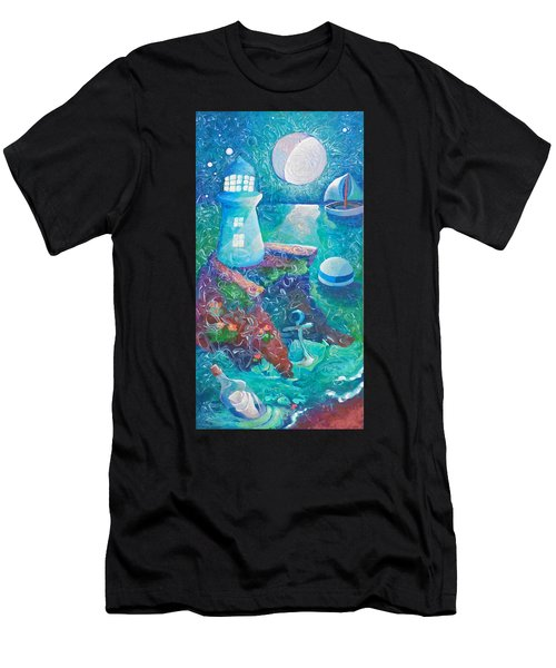 Night Out At Sea Men's T-Shirt (Athletic Fit)