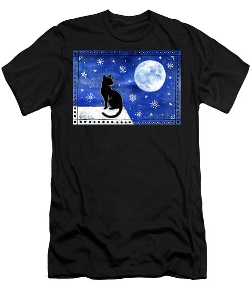 Night Patrol At Wintertime Men's T-Shirt (Athletic Fit)