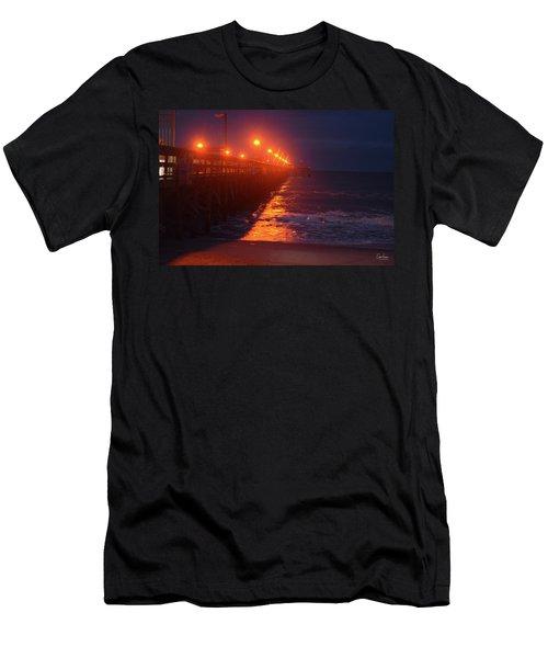 Night Pier Men's T-Shirt (Athletic Fit)