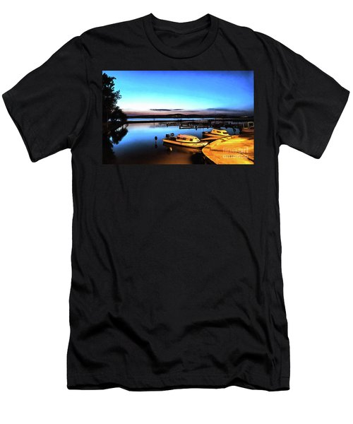 Night Port Painting Men's T-Shirt (Athletic Fit)