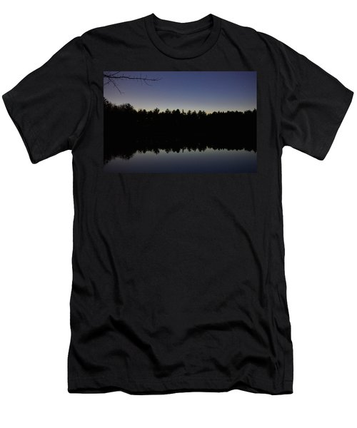 Night Reflects On The Pond Men's T-Shirt (Athletic Fit)