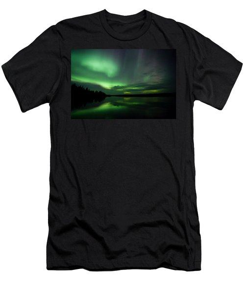 Men's T-Shirt (Slim Fit) featuring the photograph Night Show by Yvette Van Teeffelen