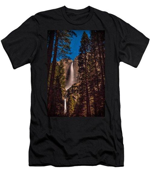 Night Sky At Yosemite Falls Men's T-Shirt (Athletic Fit)