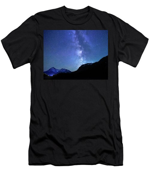 Night Sky In David Thomson Country Men's T-Shirt (Athletic Fit)