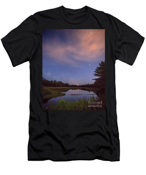 Night Sky Over Maine Men's T-Shirt (Athletic Fit)
