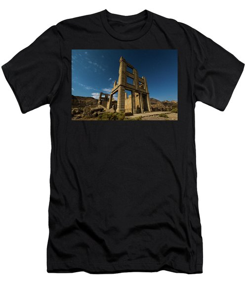 Night Sky Over Rhyolite Men's T-Shirt (Athletic Fit)