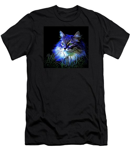 Men's T-Shirt (Slim Fit) featuring the photograph Night Stalker by Kathy Kelly