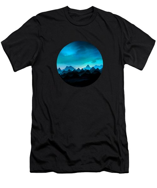 Night Storm In The Mountains Men's T-Shirt (Athletic Fit)