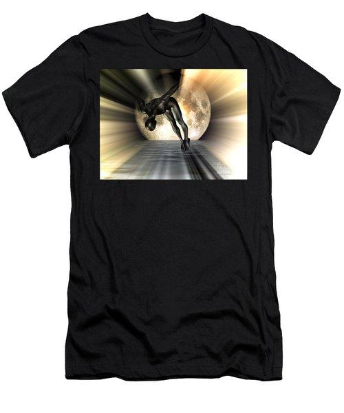 Night Swan Men's T-Shirt (Athletic Fit)
