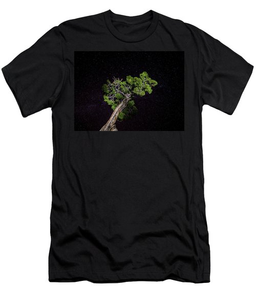 Men's T-Shirt (Athletic Fit) featuring the photograph Night Tree by T Brian Jones