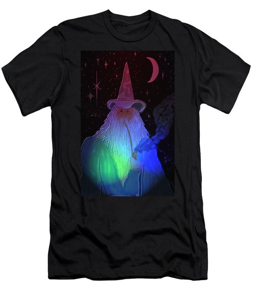 Night Wizard Men's T-Shirt (Slim Fit) by Kevin Caudill