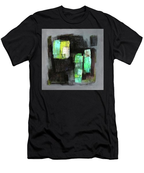 Texture Of Night Painting Men's T-Shirt (Slim Fit) by Behzad Sohrabi