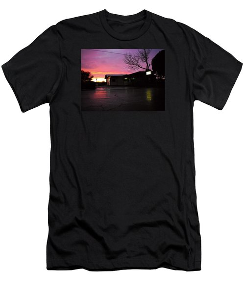 Men's T-Shirt (Slim Fit) featuring the photograph Nightfall by Adria Trail