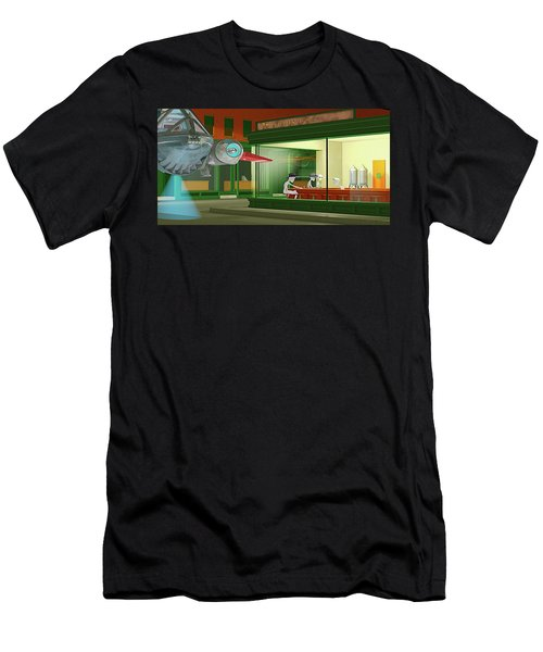 Nighthawks Invasion Men's T-Shirt (Slim Fit) by Peter J Sucy
