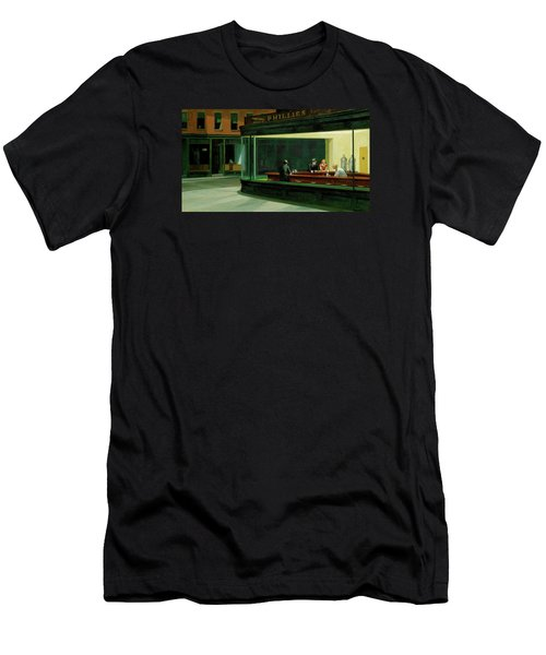 Nighthawks Men's T-Shirt (Slim Fit) by Sean McDunn
