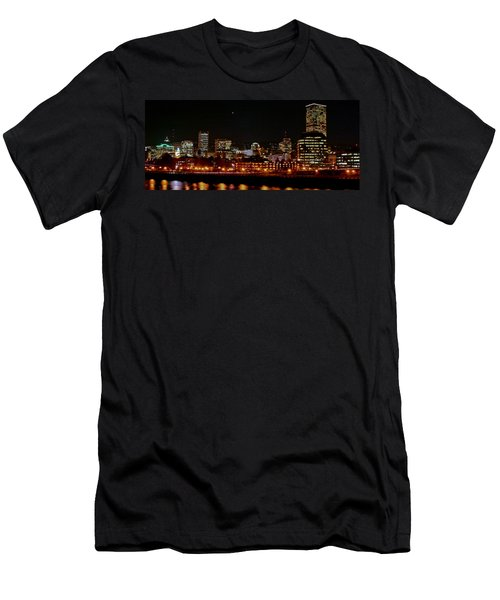 Nighttime In Pdx Men's T-Shirt (Athletic Fit)
