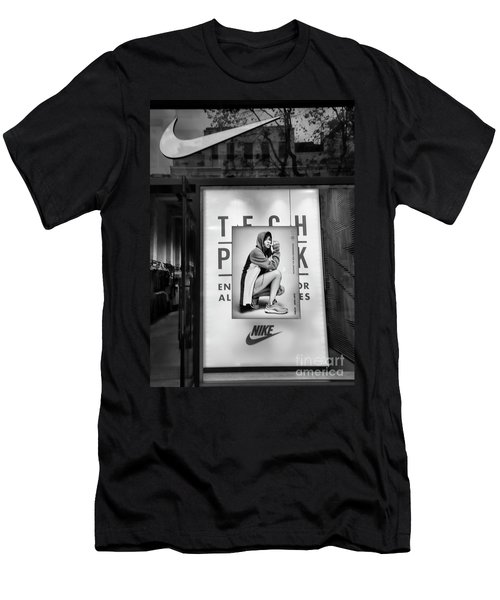 Nike Display Street Photo Black Retail Store  Men's T-Shirt (Athletic Fit)