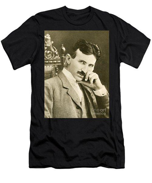 Nikola Tesla, Serbian-american Inventor Men's T-Shirt (Athletic Fit)