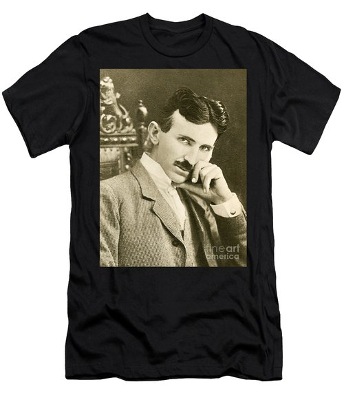 Nikola Tesla, Serbian-american Inventor Men's T-Shirt (Athletic Fit)