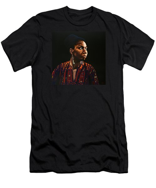 Nina Simone Painting Men's T-Shirt (Athletic Fit)