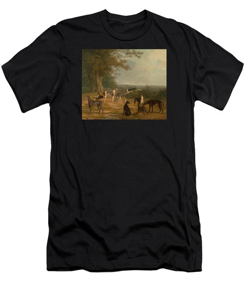 Nine Greyhounds In A Landscape Men's T-Shirt (Athletic Fit)