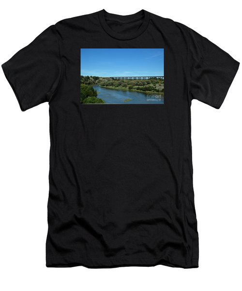 Niobrara River Men's T-Shirt (Slim Fit) by Mark McReynolds