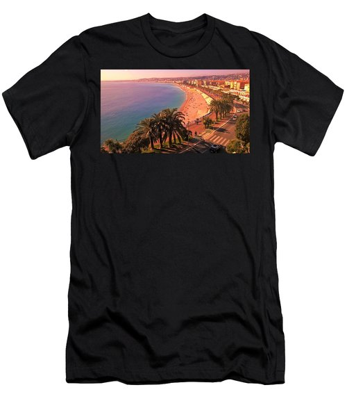 Nizza By The Sea Men's T-Shirt (Athletic Fit)