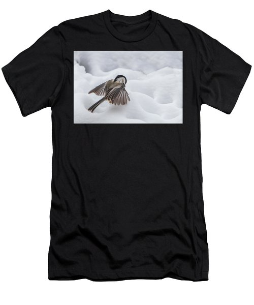 Chickadee - Wings At Work Men's T-Shirt (Athletic Fit)