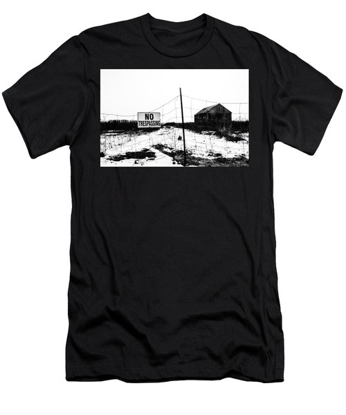 No Trespassing Men's T-Shirt (Athletic Fit)