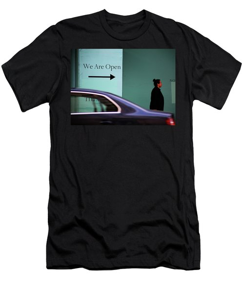 No We Are Closed  Men's T-Shirt (Slim Fit) by Empty Wall