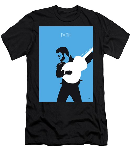 No089 My George Michael Minimal Music Poster Men's T-Shirt (Athletic Fit)