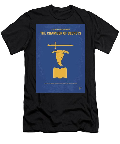 No101-2 My Hp - Chamber Of Secrets Minimal Movie Poster Men's T-Shirt (Athletic Fit)