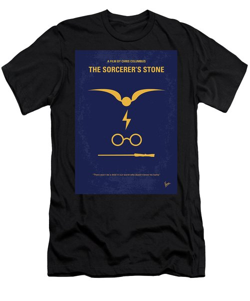No101 My Harry Potter Minimal Movie Poster Men's T-Shirt (Athletic Fit)