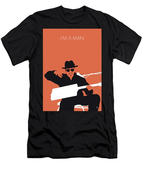 No103 My Bo Diddley Minimal Music Poster Men's T-Shirt (Athletic Fit)