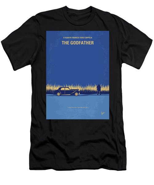 No686-1 My Godfather I Minimal Movie Poster Men's T-Shirt (Athletic Fit)