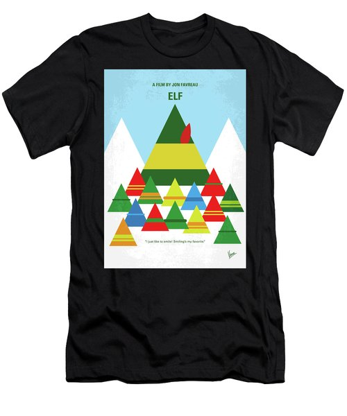 No699 My Elf Minimal Movie Poster Men's T-Shirt (Athletic Fit)