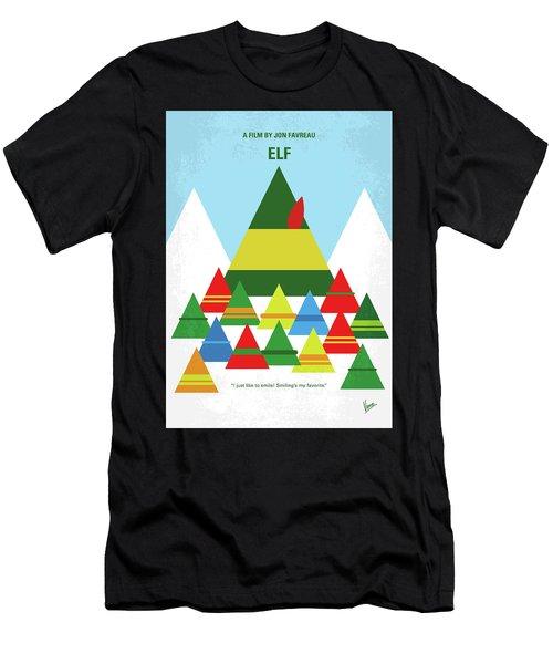 No699 My Elf Minimal Movie Poster Men's T-Shirt (Athletic Fit)