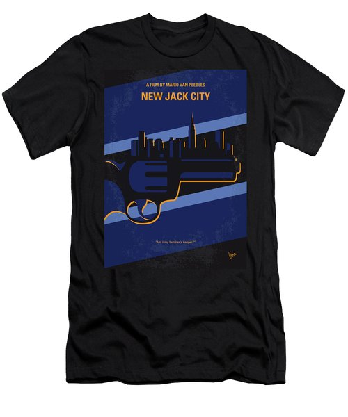 Men's T-Shirt (Slim Fit) featuring the digital art No762 My New Jack City Minimal Movie Poster by Chungkong Art