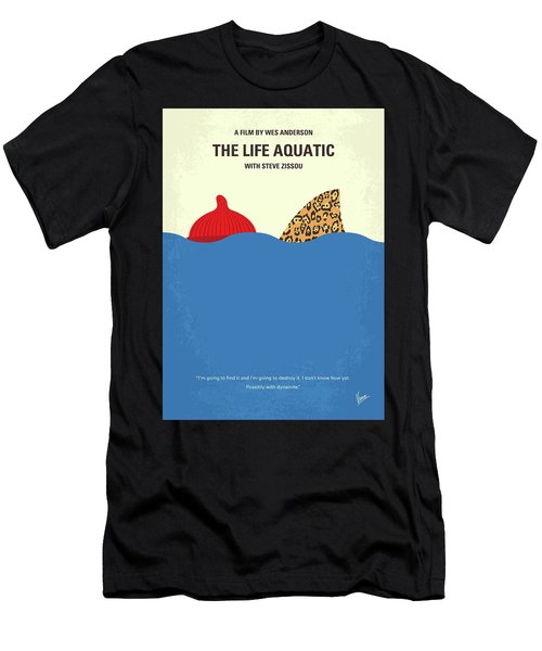 No774 My The Life Aquatic With Steve Zissou Minimal Movie Poster Men's T-Shirt (Athletic Fit)